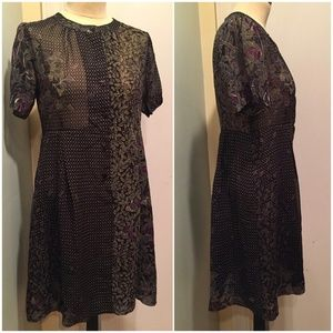 Anthro Ark Reworks Vintage 90s Shirt Dress M